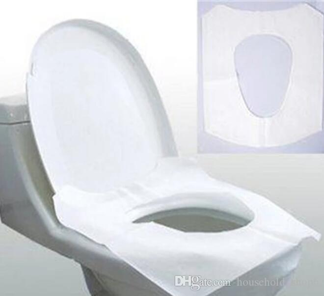 2019 Dhl Pack Travel Disposable Toilet Paper White Half Fold Seat