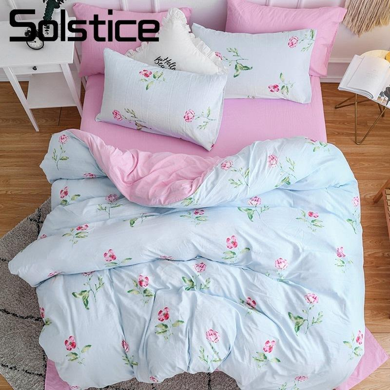 Solstice Home Textile Girl Kid Teen Bedding Sets Pink Flower Romantic  Linens Woman Adult Duvet Cover Pillowcase Bed Sheet 3/Duvet Covers Sale  Victorian ...