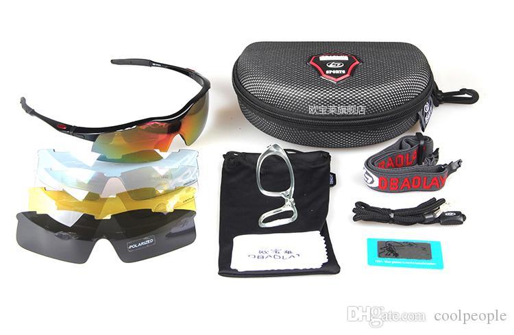 Hohe Qualität Halbrand Sonnenbrille Hot polarisiert Sport Eyewear UV400 Herren-Sonnenbrillen Frauen Wind Proof Radfahren Sonnenbrille mit 5 Objektiven