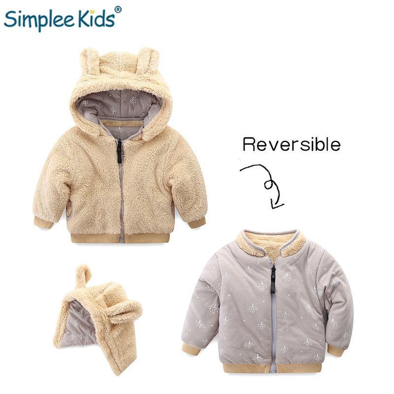 f70b90017c4e Simplee Kids Baby Girl Hooded Jackets Boys Fur Winter Coats Children ...
