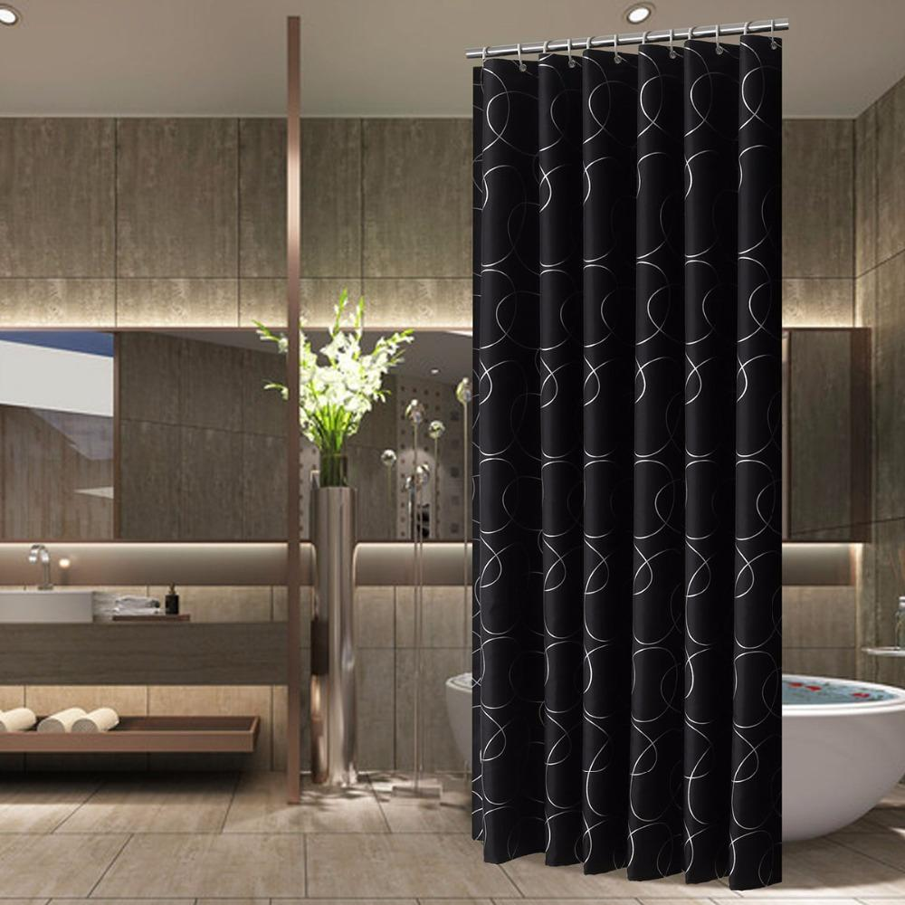 2018 Black Designer Mildew Free Water Repellent Fabric Shower Curtain Liner  Bathroom Polyester Waterproof Curtain 25 From Huayama, $29.37 | Dhgate.Com