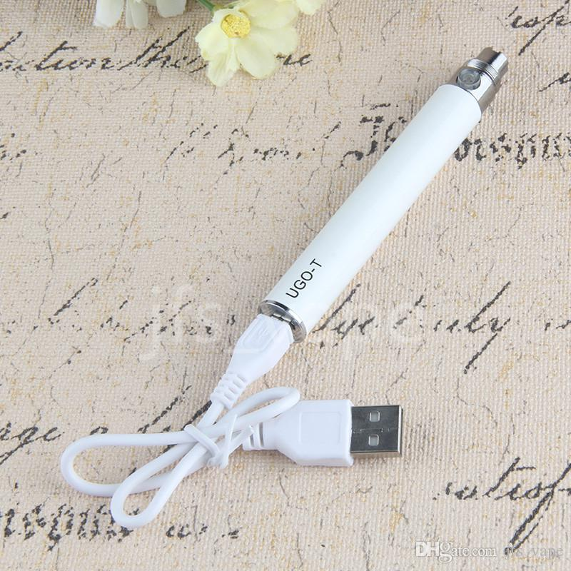 New Original EVOD eGo Micro USB Passthrough Charge Vape Battery with USB Cable 510 Thread UGO T Vaporizer Pen By ePacket