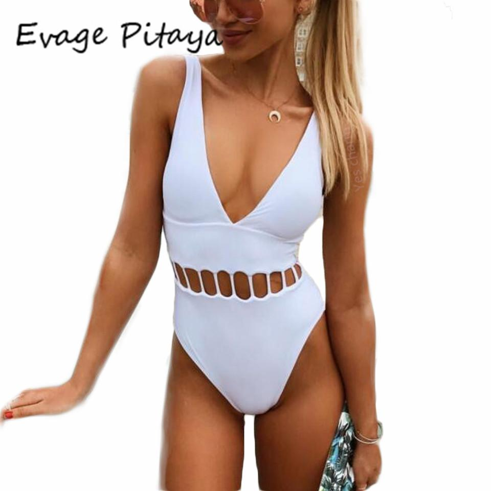 2019 2017 Swim Suit Ladies Swimsuit Plus Size White One Piece Swimsuit High  Cut Monokini Swim Suits White Bathing Suits Swimwear From Vanilla04