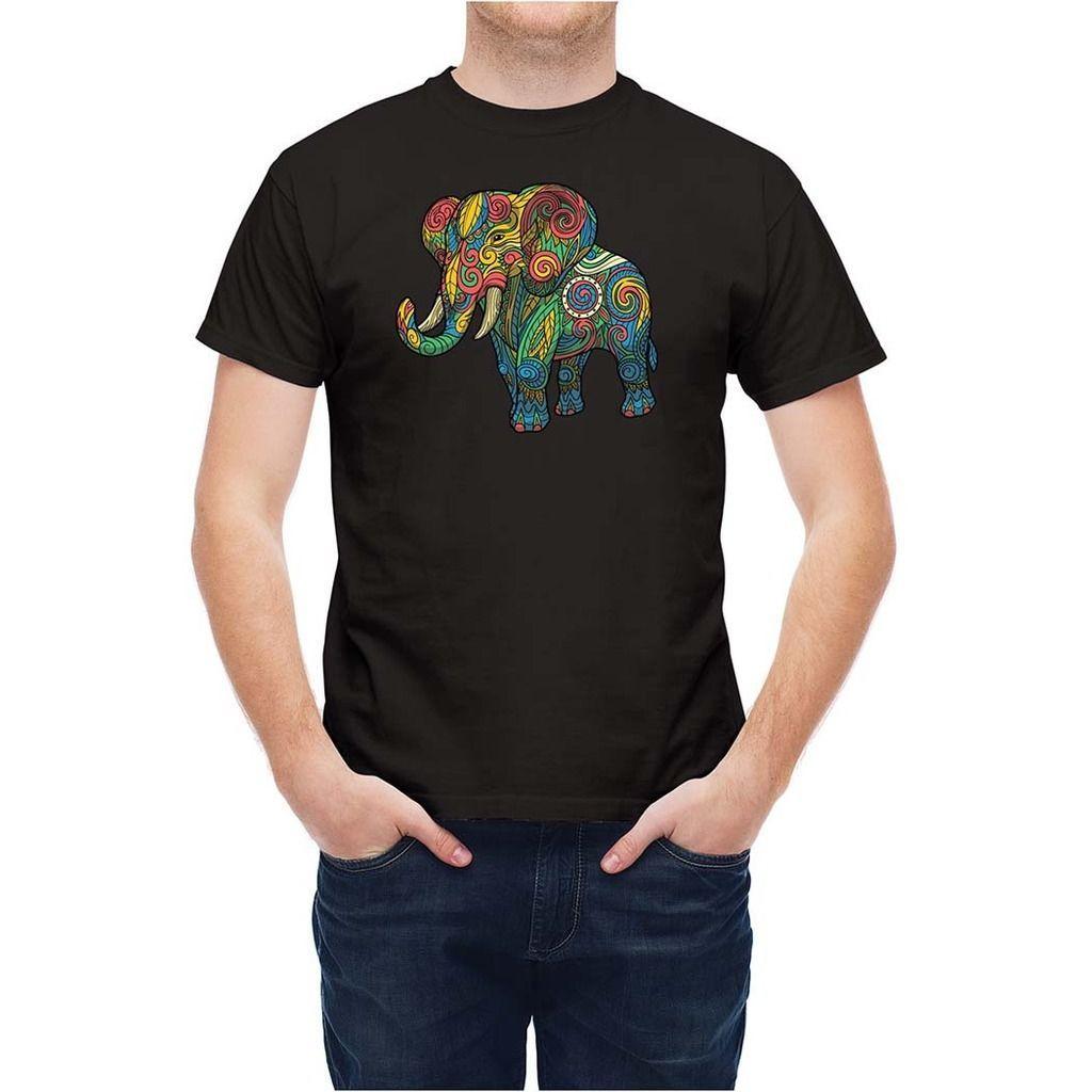 Großhandel T Shirt Gemusterter Ethnischer Ethnischer Elefant T26333