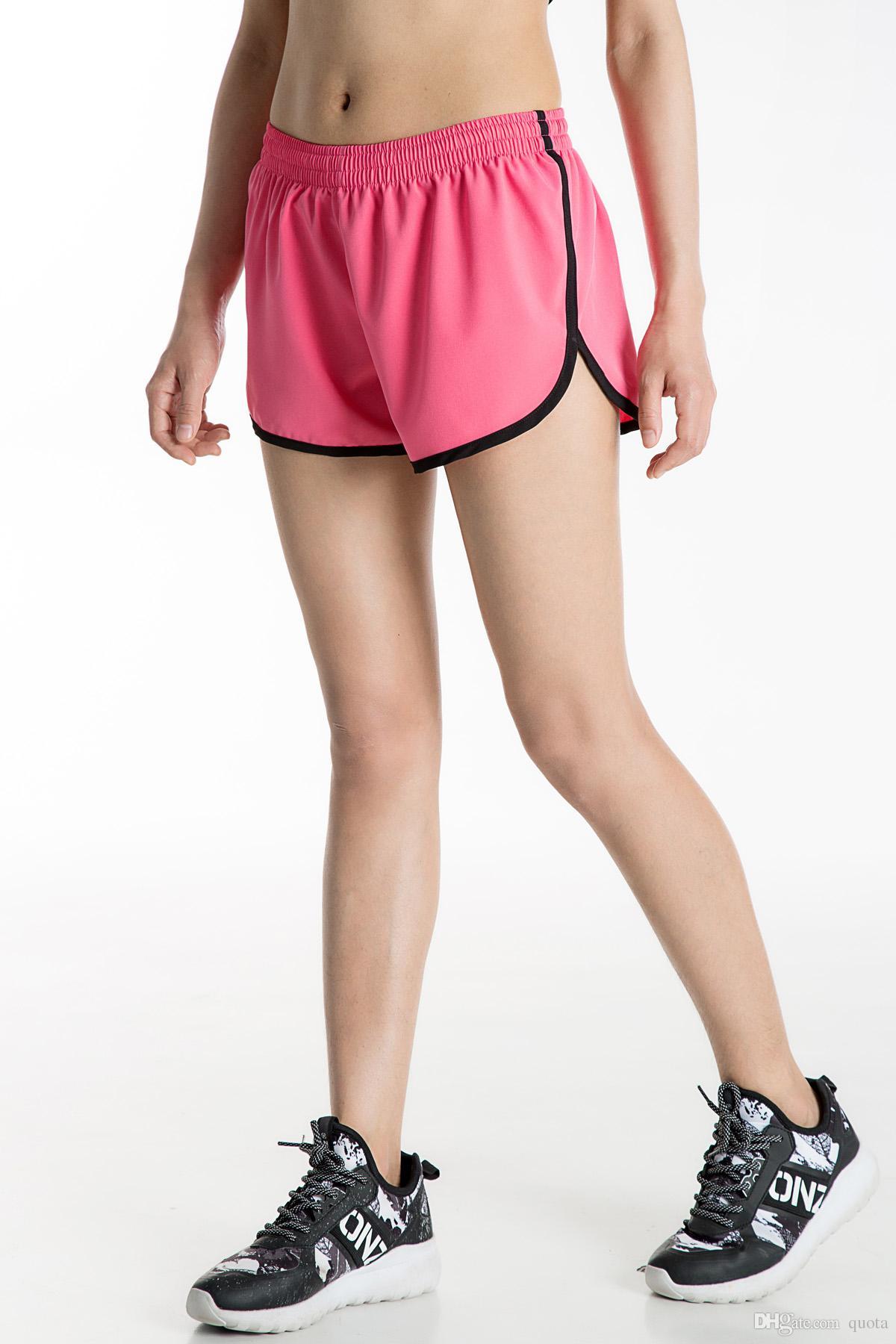 Womens Athletic Sport Shorts Courir Shorts Femmes Femelle D été Vêtements Court Causal Pantalon Gym Courir Shorts