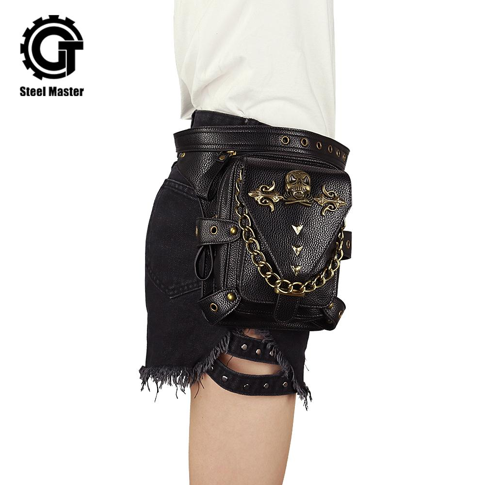 8aebbc46ed27 Vintage Steampunk Bag Steam Punk Retro Rock Gothic Retro Bag Goth Shoulder  Waist Bags Packs Victorian Style Women Men Leg Bag Leather Backpack Laptop  ...