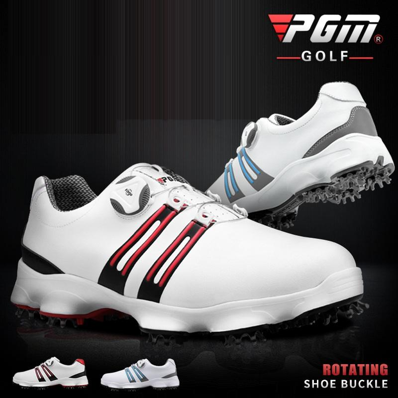 Acquista Pgm Golf Shoes Mens Rotating Buckle Golf Sneakers Sport Uomo  Impermeabile Attività Scarpe Da Allenamento Traspirante Calzature D0471 A   156.49 Dal ... 674a12f30af
