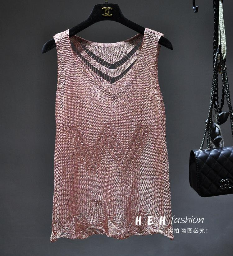 2017 estate sexy cena blingbling paillettes canotte donna scava fuori metallico lucido gilet donne paillettes bling bling tan top