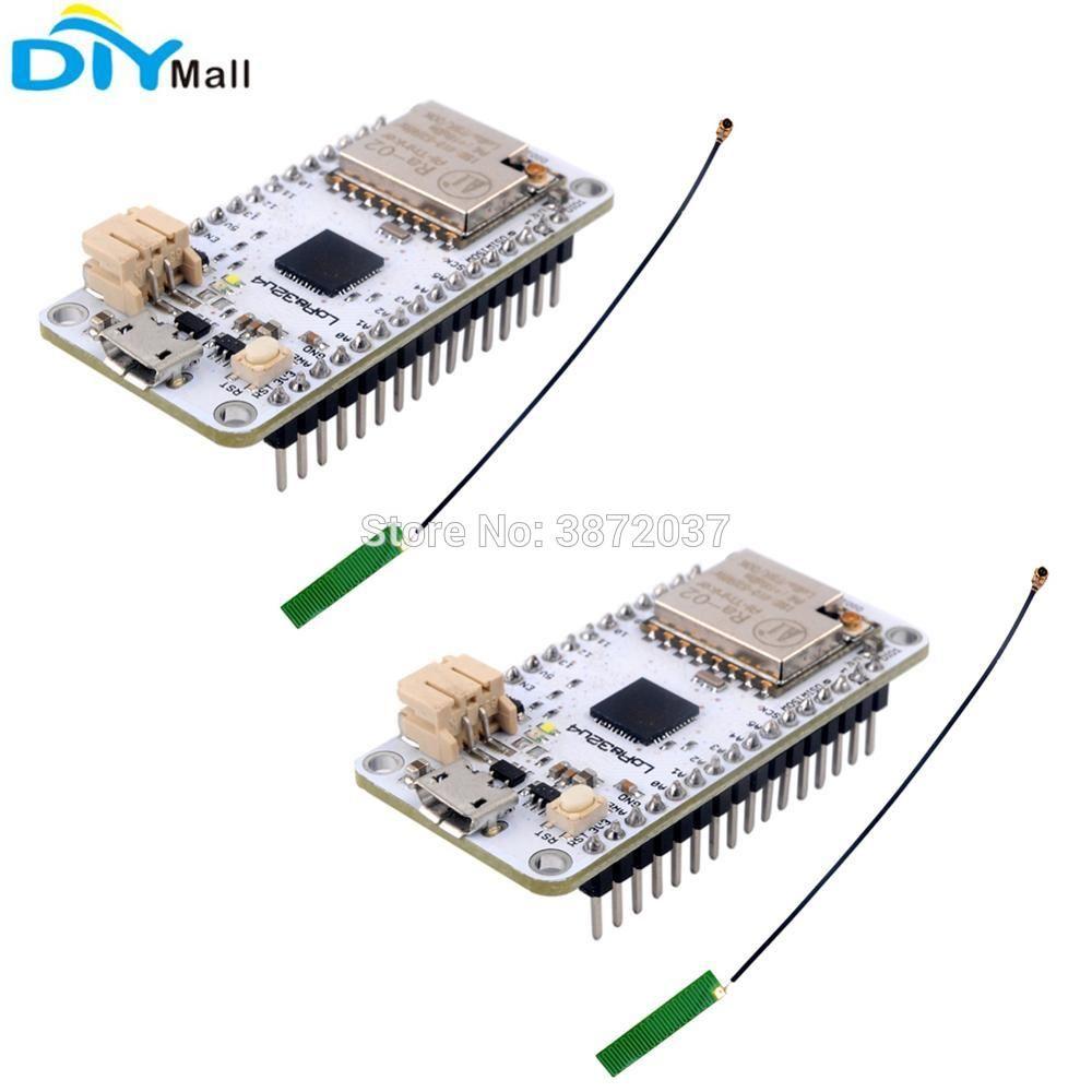2pcs/lot 433MHz LoRa32u4 Development Board Ra02 LoRa WiFi Transceiver  Module Atmega328 SX1278 1 13 IPEX Antenna for Arduino