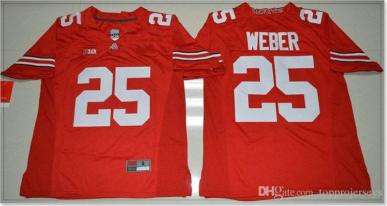 Ohio State Buckeyes #4 Curtis Samuel 25 Mike Weber Jr. Mens Vintage College American Football Sports Pro Team Jerseys Stitched Embroidery