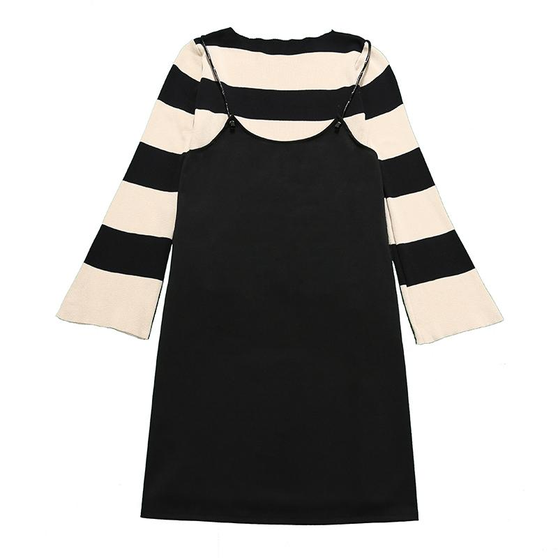 2019 Pengpious Pregnant Women Two Piece Stripe Knitted Twinset Dress Loose  Design Maternity Clothes Set Plus Size Striped Sweater Set From Dynan 173e0775f508