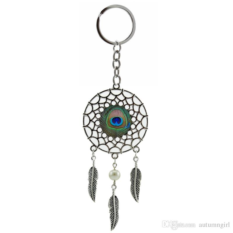 758 Peacock Keychain Peacock Feather Dream Catcher Animals Feather Tack 57b1b7920