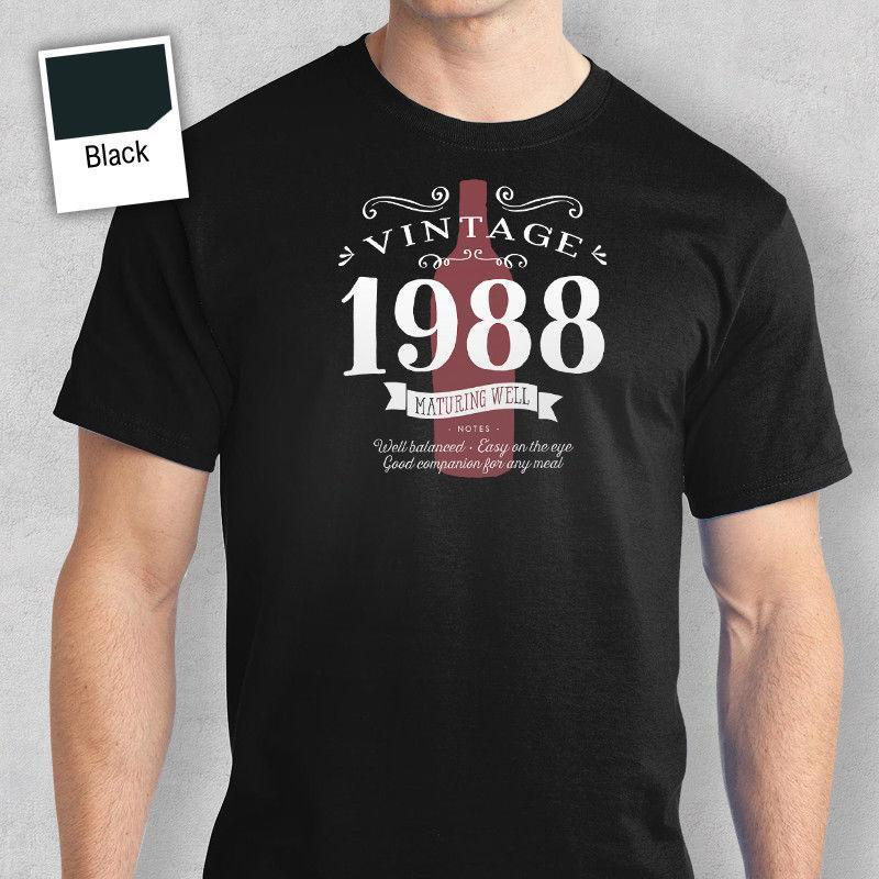 30th Birthday Gift Present Idea For Boys Dad Him Men T Shirt 30 Tee 1988 On Online Shirts Shopping From Yuxin0004 1218