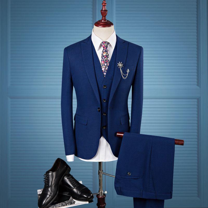 2019 Slim Fit Men Suits Wedding Groom Plus Size 4XL 2018 Groom ...
