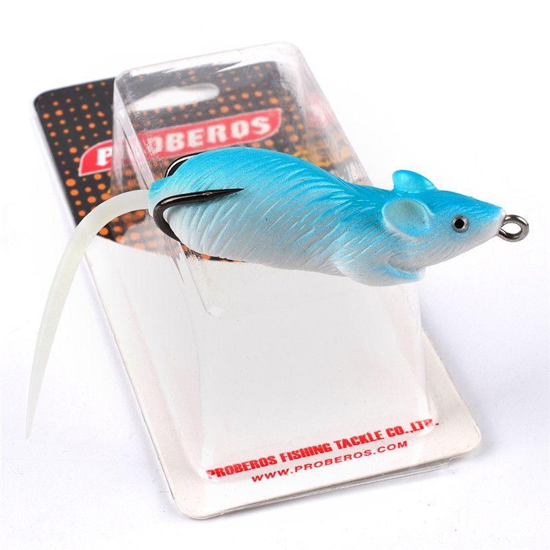New Classic bass Artificia Likelife Mouse Bait 7cm 13g 3D Eyes Soft Plastic Blackfish Catfish fishing lure hooks