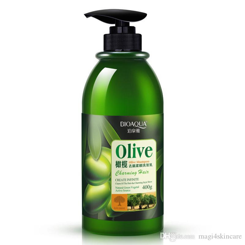 Olive Oil Shampoo Organic Lotion Oil-control Anti-Dandruff Cleansing  Professional Women Bars For Oily Hair 400ML Free Shipping