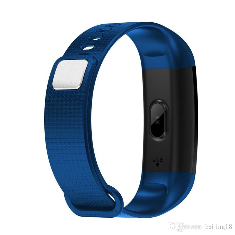 2018 New Y5 Smart Bracelet Wristband Fitness Tracker Screen Heart Rate Sleep Pedometer Sport Waterproof Activity Tracker for iPhone Samsung