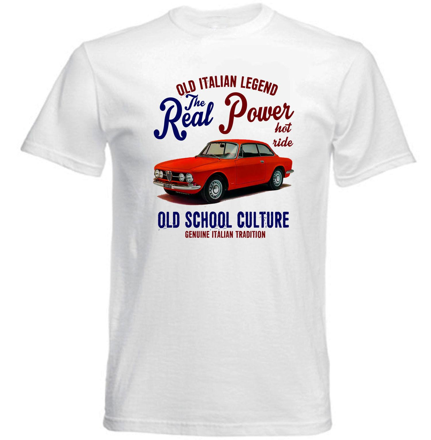 5b404836808 VINTAGE ITALIAN CAR ALFA ROMEO GIULIA SPRINT REAL POWER NEW COTTON T SHIRT  T Shirt Hot Sale O Neck Tee Shirt Cool Tshirt Designs Create T Shirt From  ...