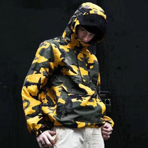 f3c87be4253d0 17FW FKDG Independent Production Of Brooklyn Yellow Camouflage Black Coat  Jacket Man And Women Jacket HFWPJK044 Styles Of Jackets Overcoats Men From  ...