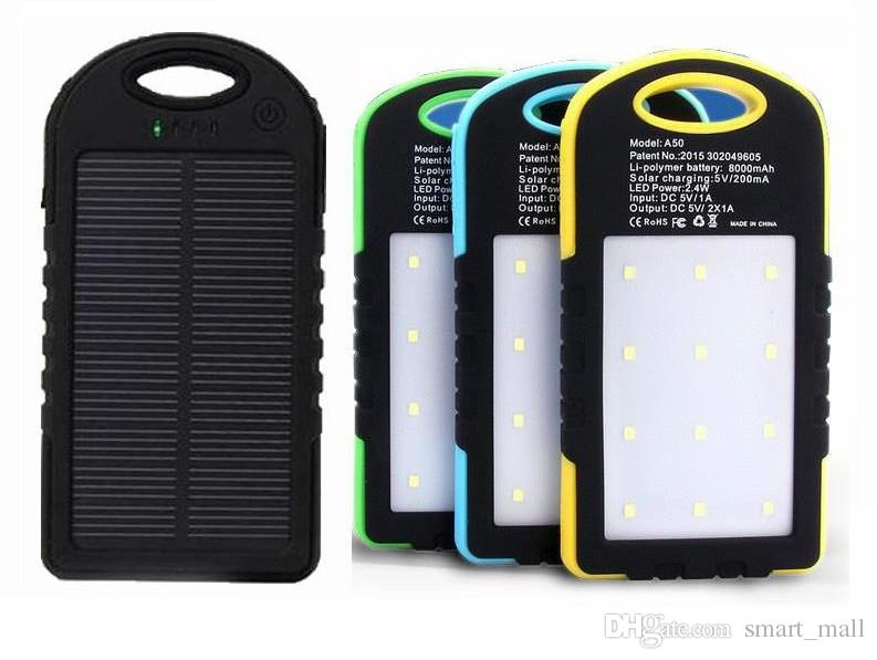 Battery Storage Boxes no Battery Power Source Solar Battery Power Bank Case Diy Kit Portable External Battery Charger With Camping Compass Led Light