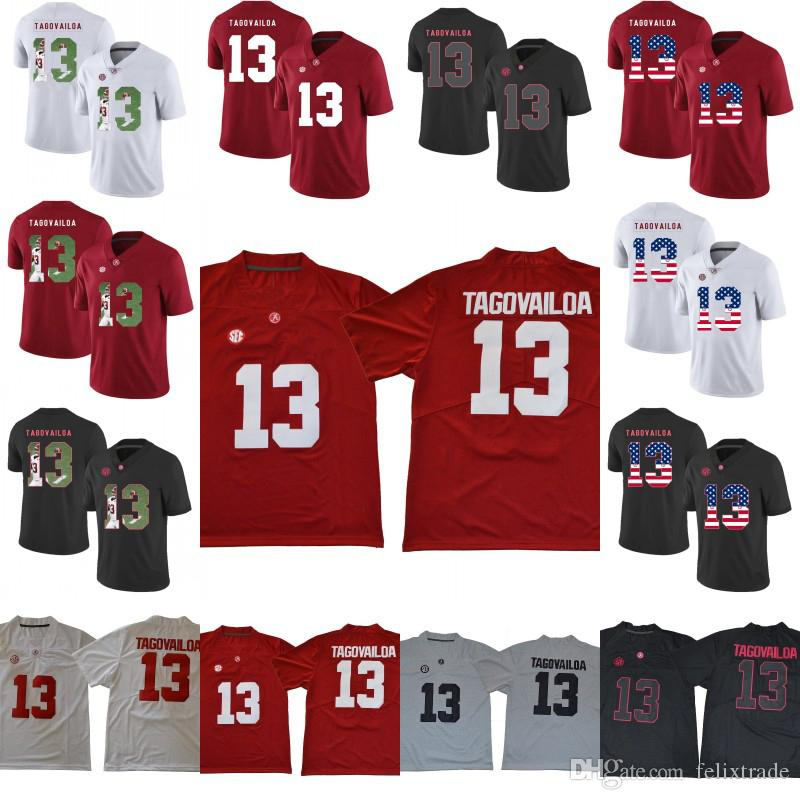 9b1432bc8 2019 Mens Women Youth 13 Tua Tagovailoa Alabama Crimson Tide NCAA College  Football Jerseys Double Stiched Printing Fashion Red White Black From  Felixtrade