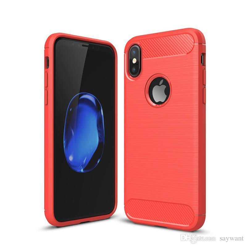 Antichocs en fibre de carbone étuis pour iPhone 11 Pro XS MAX XR 8 7 6 Plus Samsung A10 S20 Ultra robuste armure note10 cas