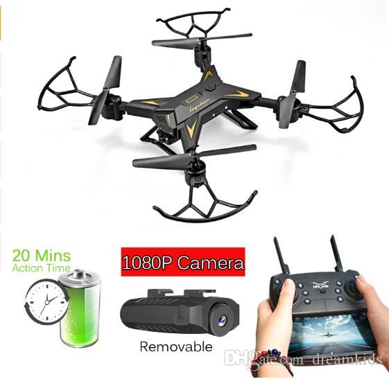 Remote Control Toys Rc Helicopter Drone With Camera Hd 1080p Wifi Fpv Selfie Drone Professional Foldable Quadcopter 40 Minutes Battery Life Ky601s