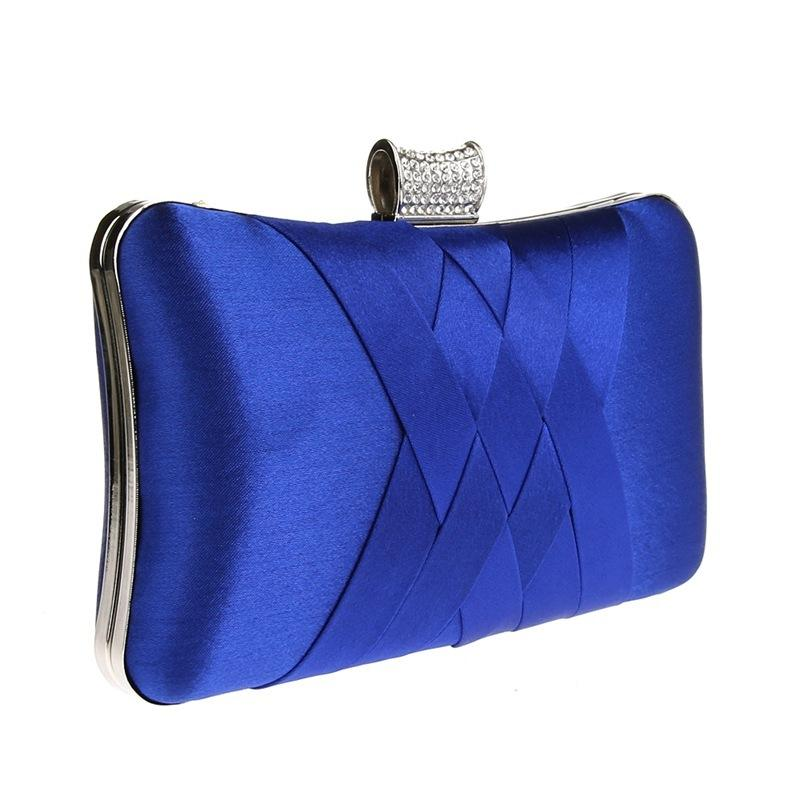 2018 Women Diamonds Evening Hand Bag Blue Clutch Bags Bride Wedding Party  Chain Purse Small Handbag Ladies Clutches Bags Y1890401 Womens Bags Black  Handbag ... 975eec9c4e6d