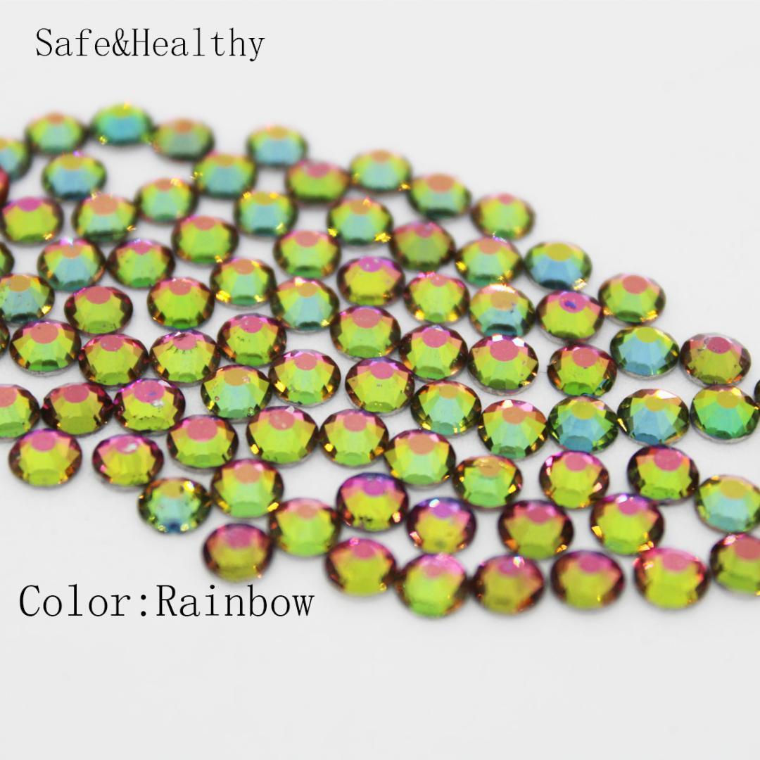 Rainbow SS3 SS34 Rhinestones Back Flat Round Nail Art Decorations And Stones  Non Hotfix Rhinestones Crystals For DIY Glass Rhinestone Home Decor  Decorations ... bfa94bfaa80e