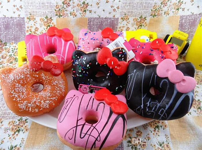 10cm Jumbo Donut Slow Rising Squishy Charm Kawaii Squishies Cream Scented Decompression Anxiety Toy Y119