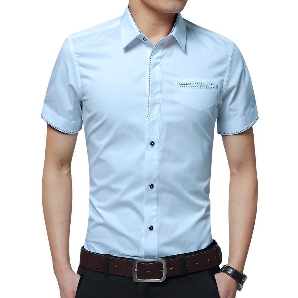 Back To Search Resultsmen's Clothing Collection Here 2019 New Summer Casual Shirt Men Good Quality Mens Dress Shirts Solid Slim Fit Short Sleeve Mens Clothing Asian Size 5xl