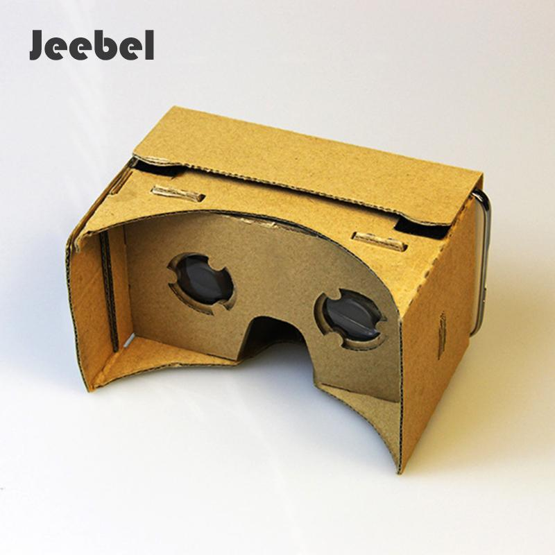 Jeebel DIY VR Box paper Cardboard 3d Glasses Virtual Reality Glasses Vr Cardboard 3d Glass For 5.0