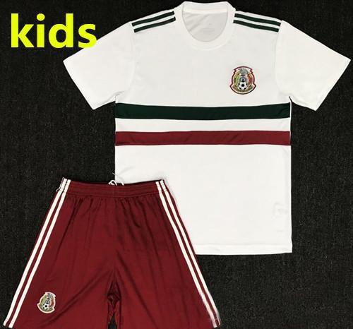 3988e7332 2019 2018 Mexico Kids Kit Soccer Jersey Home Away White CHICHARITO M.LAYUN  R.JIMENEZ Carlos Vela G.DOS SANTOS A GUARDADO Child Football Shirts From ...