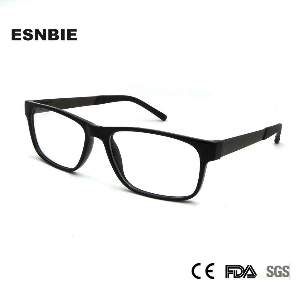 162ccdce512e7 Compre ESNBIE TR90 Plástico Titanio Gafas Nerd Hombres Lente Clara Gafas  Mujer Unisex Gafas Mujer Negro Monturas Gafas A  22.46 Del Milknew    DHgate.Com