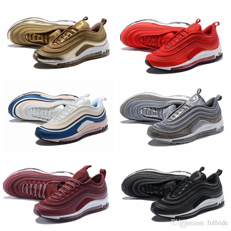 2018 Hot 97 UL 17 Running Shoes OG Metallic Gold Silver Bullet 97s Ultra SE  Women Mens Trainers Designer Man Sports Shoe Sneakers Shoe Shops Running  Shoe ... 1ab22e147