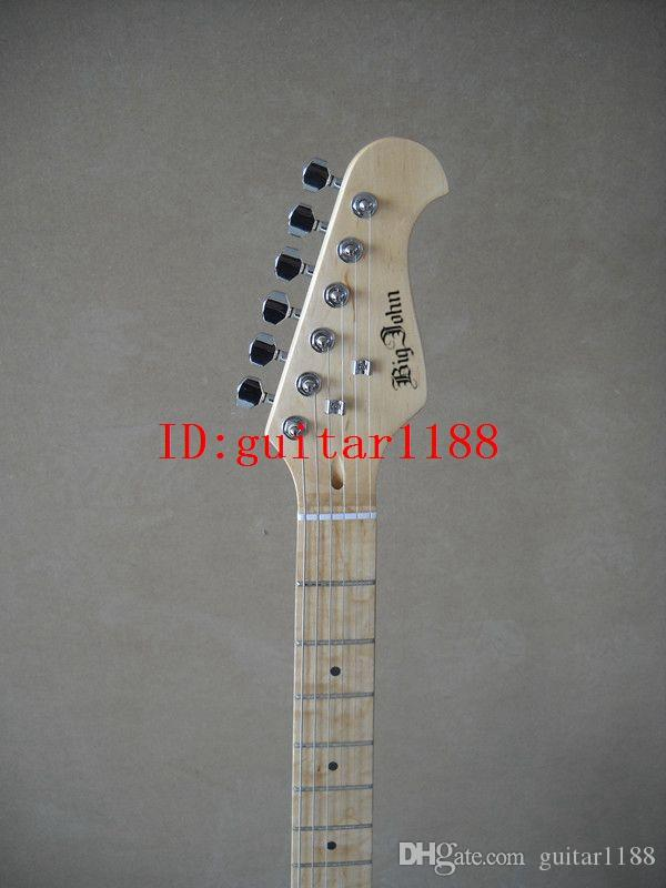 new Big John single wave electric guitar with organic glass body made in China JY-4