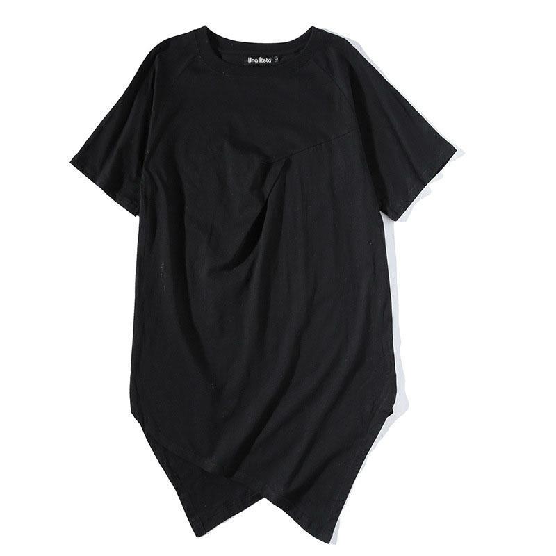 d9149cae2142 Men s T-shirt 2018 New Summer T Shirt Solid Color Long Line Hip Hop ...
