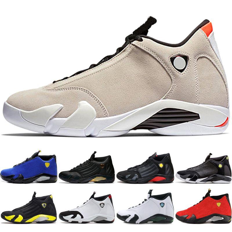 save off f0959 f2aa2 Großhandel Nike Air Jordan Retro AJ14 Neuankömmling Klassische 14 XIV  Basketball Schuhe Männer Fusion Lila Letzten Schuss Schwarz Fusion Varsity  Rot 14 S ...