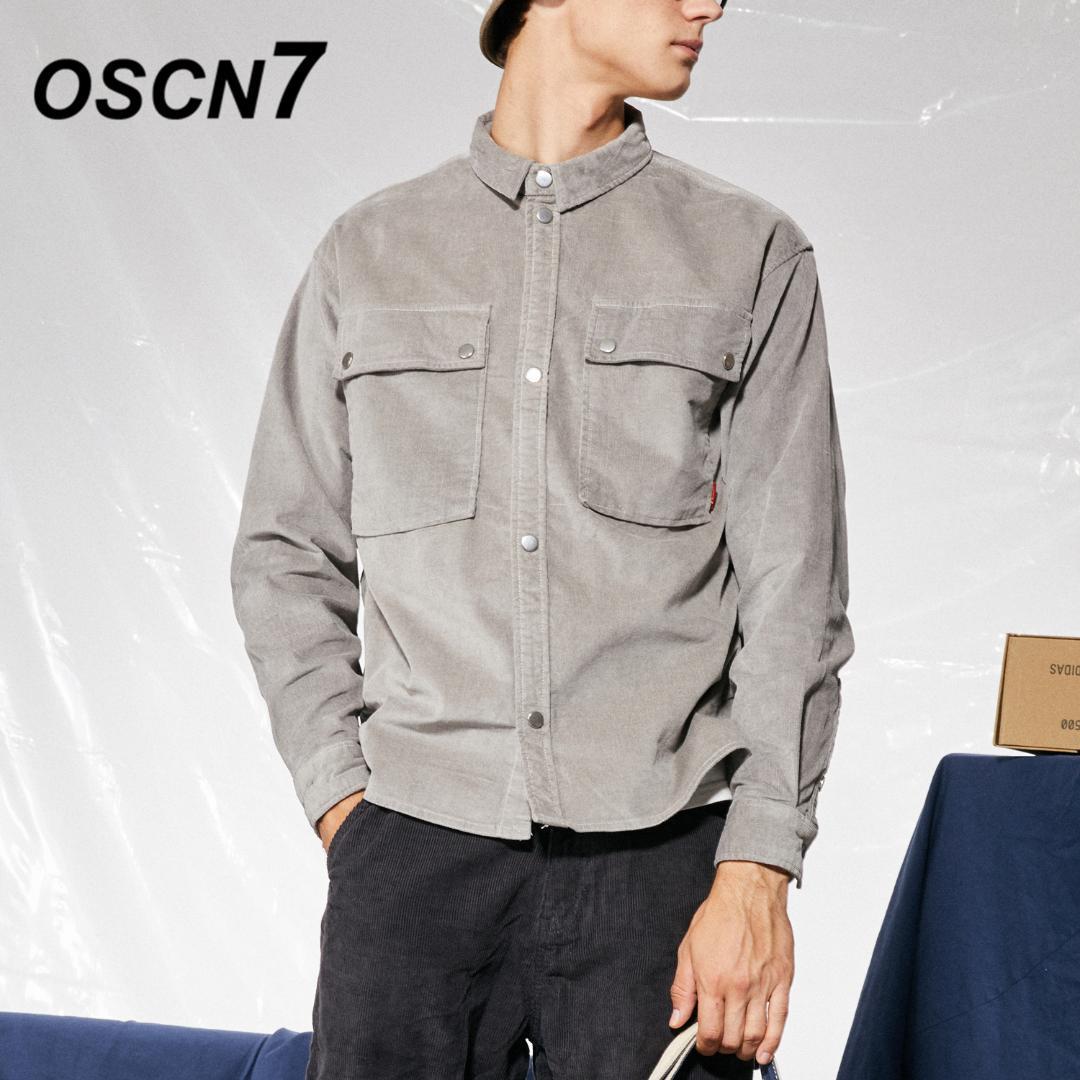 b64b1555a 2019 OSCN7 Fall Retro Big Pocket Design Casual Plain Corduroy Shirt Men  Japanese Streetwear Harajuku Long Sleeve Shirt Men GPD GS0551 From  Pulchritude, ...