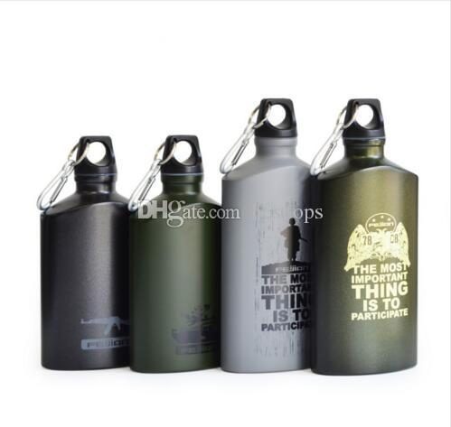 17oz 500ml Outdoor Sports Water Bottle Army Thermos Aluminum