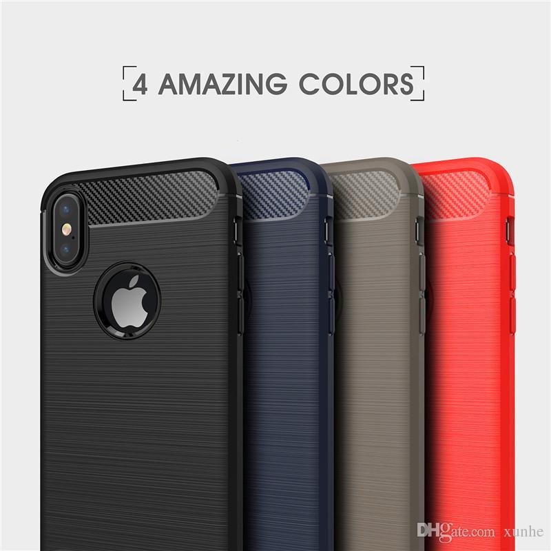 57e6c8471c9 Fundas Celulares Para IPhone X 8 7 6S Plus Funda De Fibra De Carbono Funda  De Cuero Para Samsung Note8 S8 Plus Armadura Híbrida A Prueba De Golpes  Fundas ...