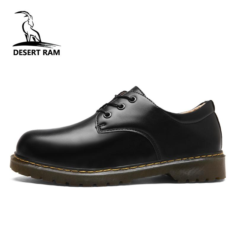 DESERT RAM Brand Men S Boots Mens Doc Martens Shoes Men Casual Dr Martins  Boots Winter Retro Footwear Black Fashion Dress Shoe Monkey Boots Cheap  Football ... b2dbbf427