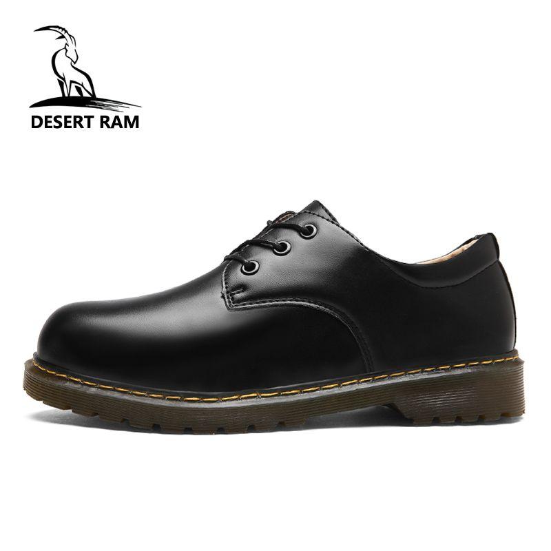 a36f2e929b22 Acheter DESERT RAM Marque Hommes Bottes Hommes Doc Martens Chaussures  Hommes Casual Dr Martins Bottes Hiver Rétro Chaussures Noir Mode Robe  Chaussure De ...