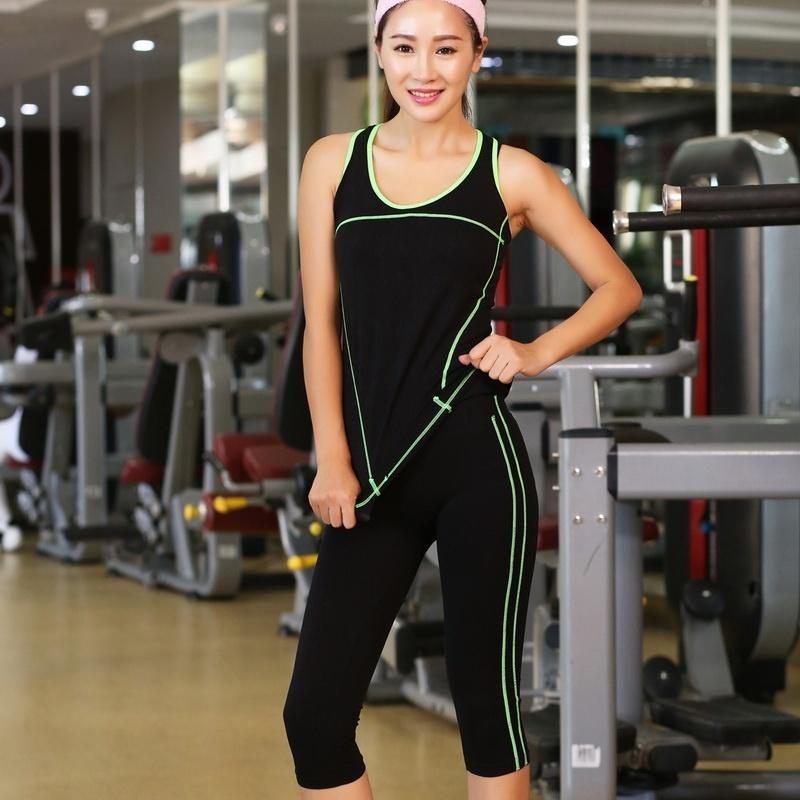 Compre 2 Peças Mulheres Yoga Set Crop Top Camisas + Skinny Legging Capri  Calças Conjuntos De Esportes Ginásio Execução Roupas Fot Mulheres De  Fitness De ... 1099ac078c2dc