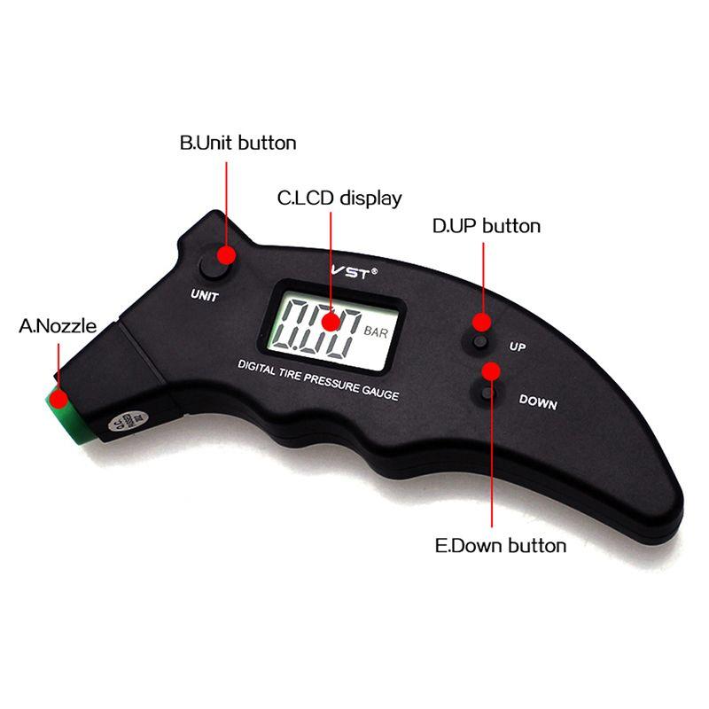 Digital Auto Reifen Manometer Manometer Hohe Präzision LCD Hintergrundbeleuchtung 3-150PSI Einheit Reifen Luftdruck Meter Tester Monitor Diagnosewerkzeug