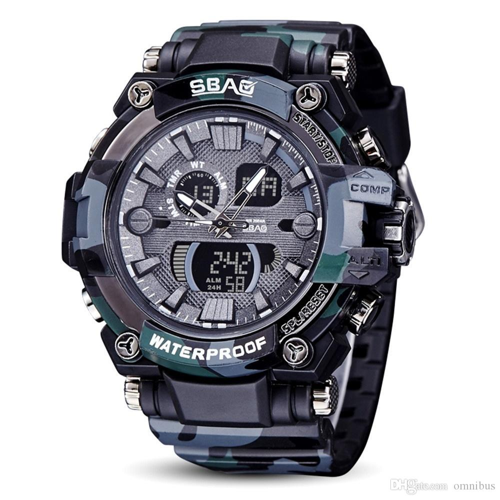 Fashion Gifts Sbao Watch Led Men Waterproof Sport Watch Shock