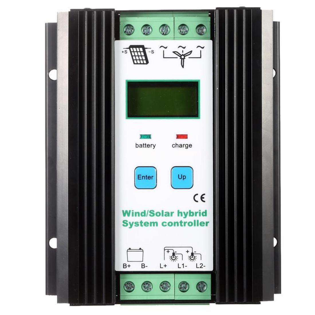 Freeshipping Wind&Solar Hybrid PWM Controller(600W Wind+400W Solar) 12V/24V Automatic