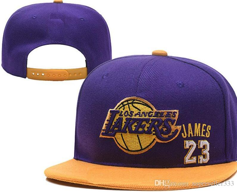 Snapback Lakers 23 James hats Baseball Snapbacks LAL Men's Women's Curved Flat Adjustable Caps strapback Sports hats accept mix order