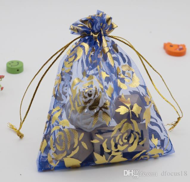 2019 9x12cm Jewelry Packing Organza Bags Wedding Gift Bags Rose Flower Design Organza Pouch Wedding Party Favor Gift Bag From Dfocus18, $0.12 | DHgate.Com