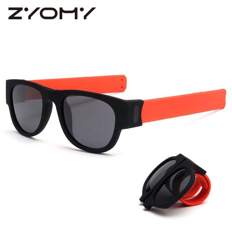 88a41e449c1 Oculos De Sol Polarized Sunglasses Clap Ring Eyewear Foldable UV400 ...